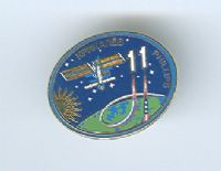 Expedition 11 ISS International Space Station Mission Lapel Pin Official NASA